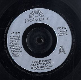 VANESSA WILLIAMS [Just For Tonight(Single Remix) / Whatever Happens]