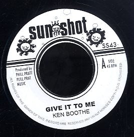 KEN BOOTHE / I-ROY [Give It To Me / Musical Air Raid]
