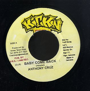 ANTHONY CRUZ [Baby Come Back]