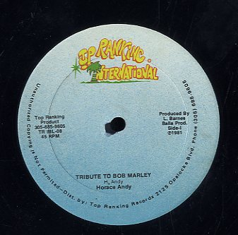 HORACE ANDY [Tribute To Bob Marley]