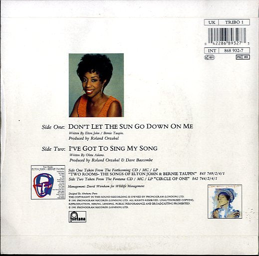 OLETA ADAMS [Don't Let The Sun Go Down On Me / I've Got To Sing My Song]