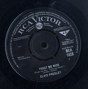 ELVIS PRESLEY [Jailhouse Rock / Treat Me Nice]