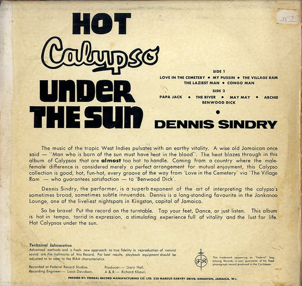 DENNIS SYNDREY [Hot Calypso Under The Sun]