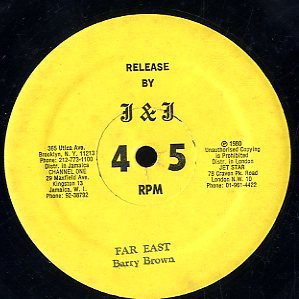 BARRY BROWN [Far East / Run Wicked Man]