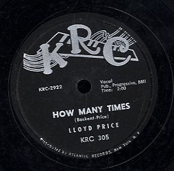 LLOYD PRICE [How Many Time / To Love And Be Loved]
