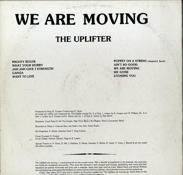 THE UPLIFTER [We Are Moving]