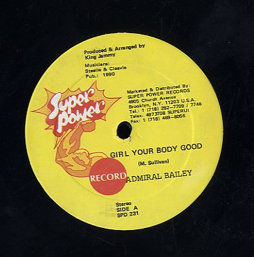 ADMIRAL BAILEY / TULLO T [Girl Your Body Good / Mampie Style]