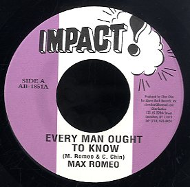 MAX ROMEO [Every Man Ought To Know]