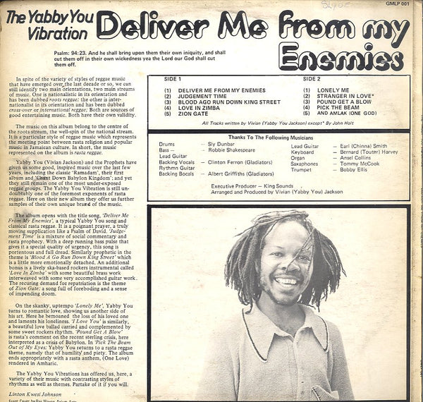 YABBY YOU [Deliver Me From My Enemies The Yabby You Vibration]