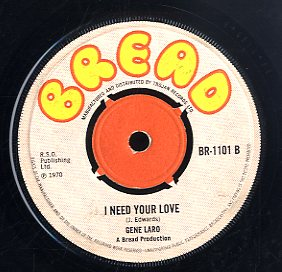 DEL DAVIS / GENE LARO [Susanne / I Need You Love]
