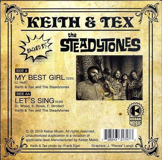 KEITH & TEX [My Best Girl / Let's Sing]
