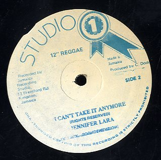 JENNIFER LARA / FRANKIE PAUL  [I Can't Take It Anymore / Rub A Dub With Feelings ]