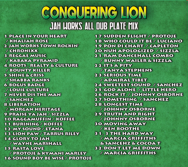 JAH WORKS [Conquering Lion -Jah Works All Dub Plate Mix-]