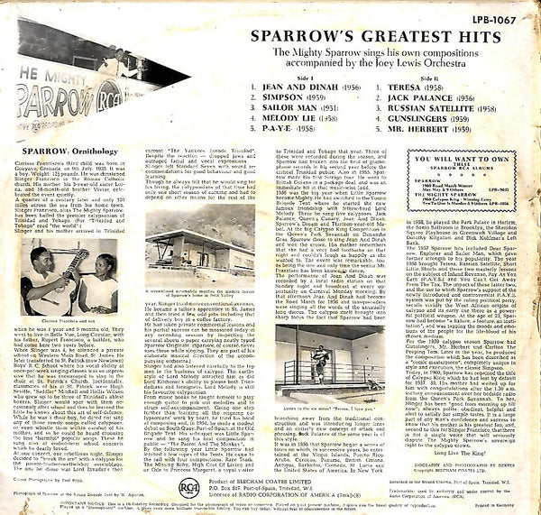 SPARROW [Sparrow's Greatest Hits]