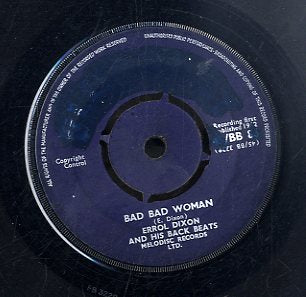 ERROL DIXSON [Bad Bad Woman / Early This Morning]