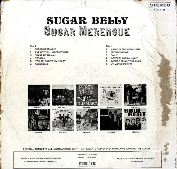 SUGAR BELLY [Sugar Merengue]