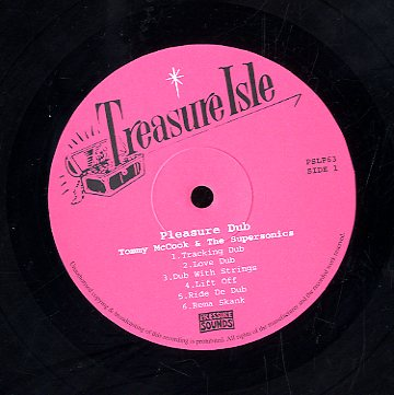 TOMMY MCCOOK & THE SUPERSONICS [Pleasure Dub]