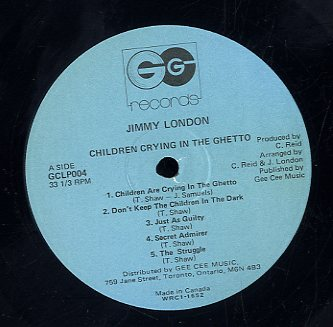 JIMMY LONDON [Children Are Crying In The Ghetto]