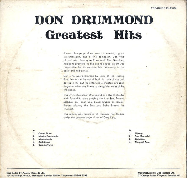 DON DRUMMOND [Greatest Hits]