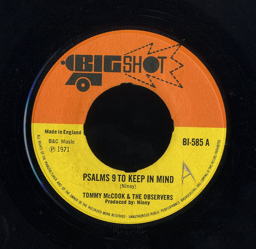 TOMMY MCCOOK & OBSERVERS [Psalms 9 To Keep In Mind / Mood Of The Observer]