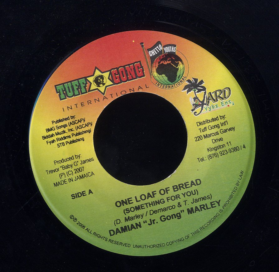 "DAMIAN ""JR. GONG"" MARLEY / SIZZLA KOLONJI [One Loaf Of Bread (Something For You) / Too Much Gang War]"