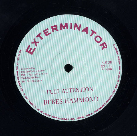 BERES HAMMOND / SUGAR MINNOTT [Full Attention / Dem Run Things]