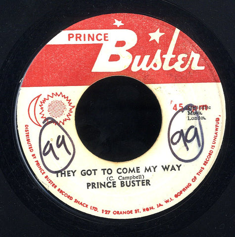 PRINCE BUSTER [They Got To Come My Way / Beware Brother]