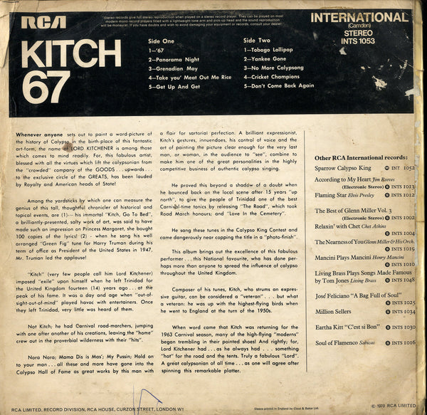 LORD KITCHENER [Kitch 67]