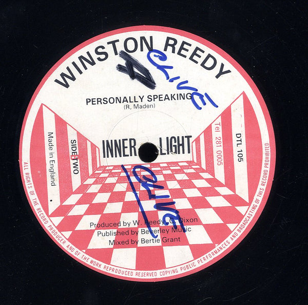 WINSTON REEDY [Personally Speaking / Dim The Light]