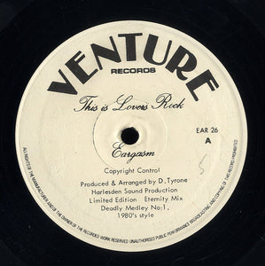 EARGASM / P POP & THE BEAGLE [This Is Lovers Rock / Name Thats Tane]