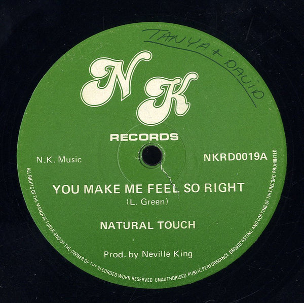 NATURAL TOUCH [You Make Me Feel So Right / I Don't Want To Be Alone ]