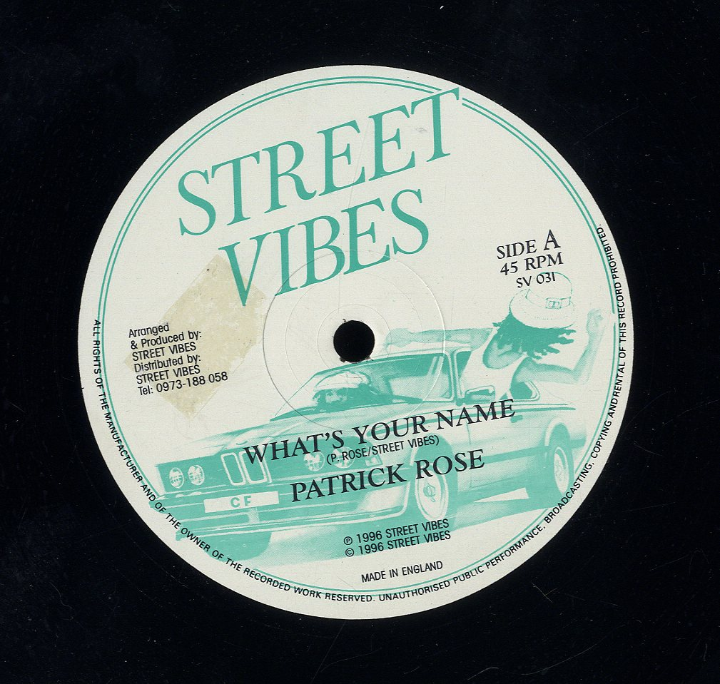 PATRICK ROSE / NATURAL HEIGHTS [What's Your Name / Turn To Me]