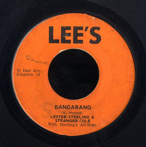 LESTER STERLING & STRANGER COLE / KEN PARKRER [Bangarang / Someone To Love]