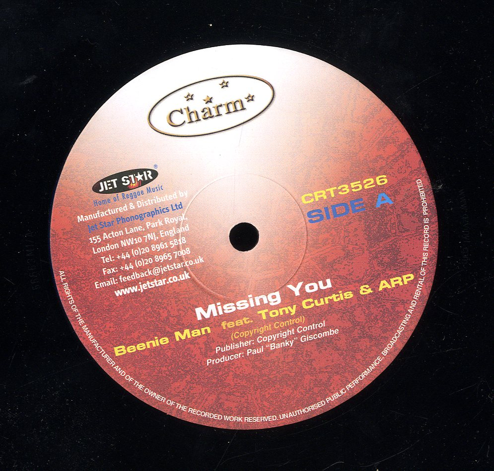 BEENIE MAN, TONY CURTIS & A. R. P. / L. U. S. T. [Missing You / Sweetness Of Your Love]