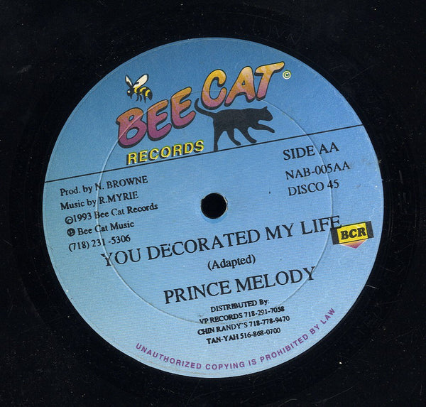 PRINCE MELODY / SKANKY DAN  [You Decorated My Life / Bow And Arrow]