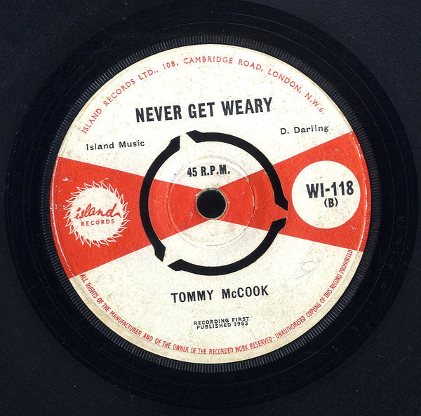 TOMMY MCCOOK [Never Get Weary / Below Zero ]