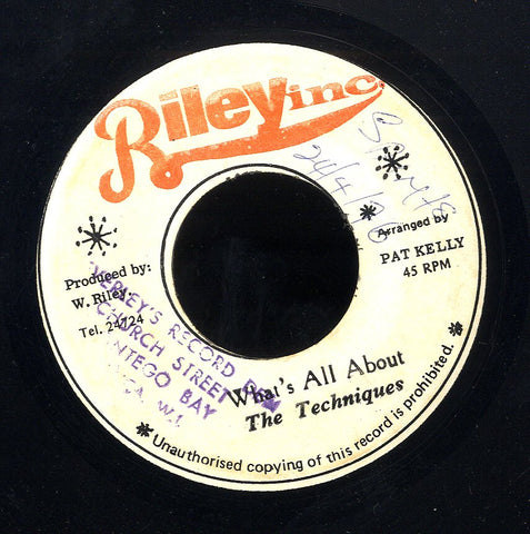 THE TECHNIQUES / LLOYD YOUNG [Whats All About / Automatic Boom]