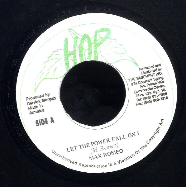 MAX ROMEO / THE ORIGINAL HIPPY BOYS [Let The Power Fall On I / Power Version]