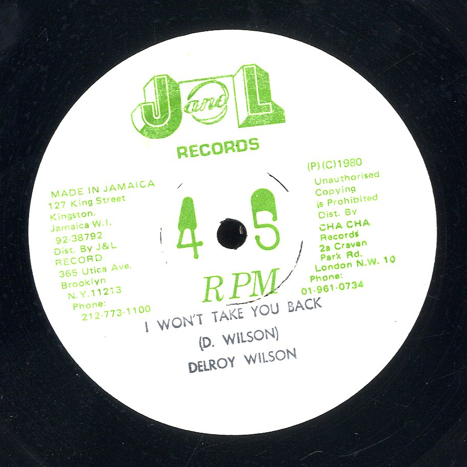 DELROY WILSON [Sharing The Night Together / I Won't Take You Back]