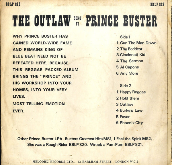 PRINCE BUSTER [The Outlaw]