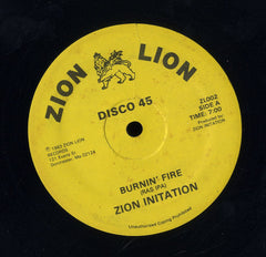 ZION INITATION [Burnin Fire / Leave It Home . Cmplexion Drums .  ]
