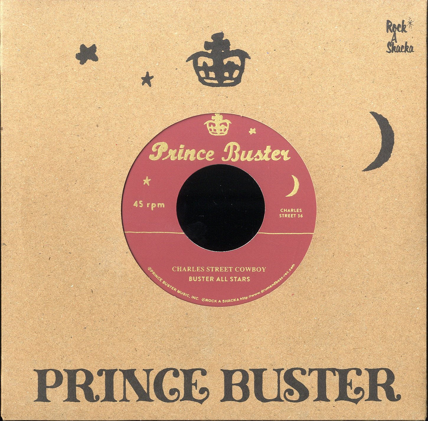 BUSTER ALL STARS / SLIM SMITH (SILKSCREEN LABEL)  [Charles Street Cowboy (Unreleased) / Only Soul Can Tell]