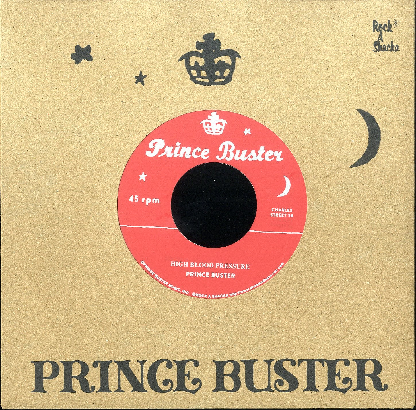 PRINCE BUSTER / DERRICK & PATSY (SILKSCREEN LABEL)  [High Blood Pressure / Raindrops Falling (Unreleased)]