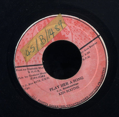 KEN BOOTHE [Play Her Song]