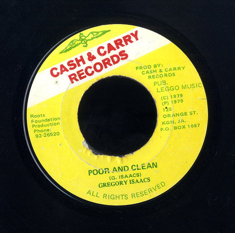 GREGORY ISAACS [Poor & Clean]