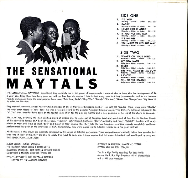 THE MAYTALS [The Sensational Maytals]