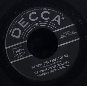 TOMMY DORSEY ORCHESTRA STARING WARREN COVINGTON [My Baby Just Care For Me / Tea For Two Cha Cha]