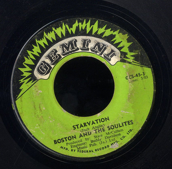 JACK BOSTON & SOULITES / BOSTON JACK & SOULITES [Slave / Starvation]