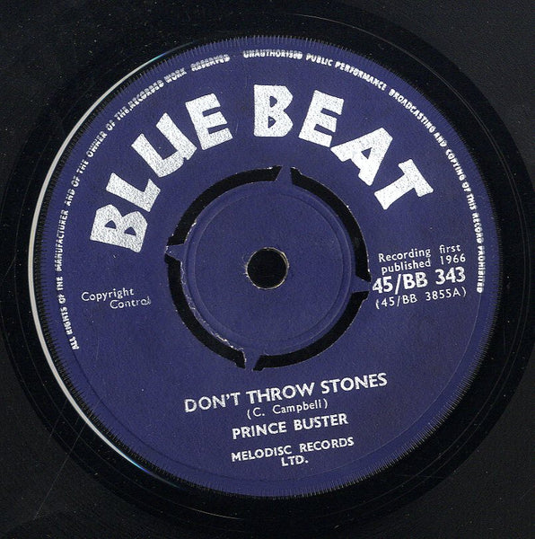 PRINCE BUSTER [Don't Throw Stones / Prince Of Peace]