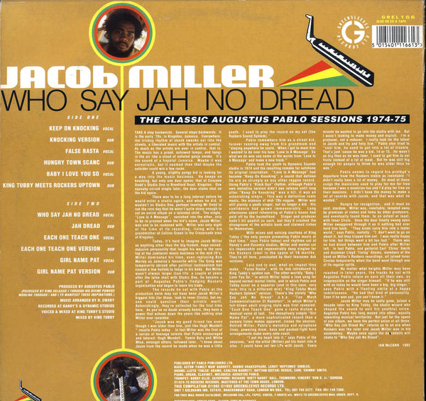 JACOB MILLER [Who Say Jah No Dead]